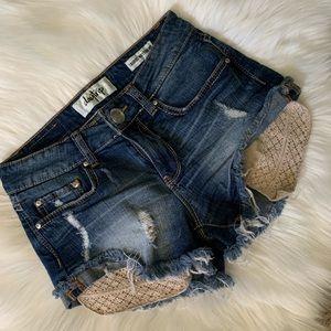 Daytrip Taurus Boyfriend denim shorts. Size 25